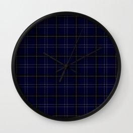 Navy Buffalo Plaid Wall Clock