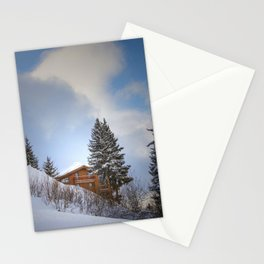 Chalet mountain cloud Stationery Cards
