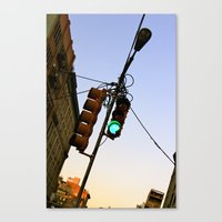 cosima Canvas Prints featuring Green Means GO by Cosima Higham