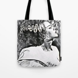 The Bride in Pen and Ink Tote Bag