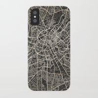 manchester iPhone & iPod Cases featuring manchester map ink lines by Les petites illustrations