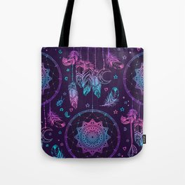 Ultra Violet Dreams, Dream Catcher Enchantment Tote Bag