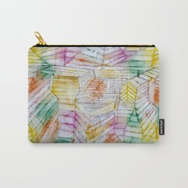 Abstract Geometric Form Theater Mountain Construction Paul Klee Carry-All Pouch