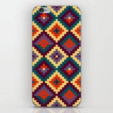 Aztec pattern - purple, red, blue, yellow iPhone & iPod Skin