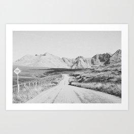 ON THE ROAD XXI / Scotland Art Print