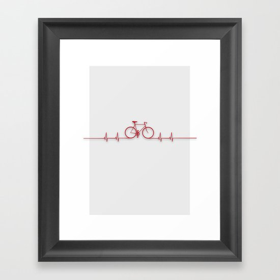 Bike Beat Framed Art Print