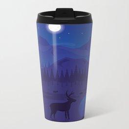 Night landscape Metal Travel Mug