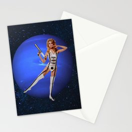 Barbarella guards Neptune Stationery Cards