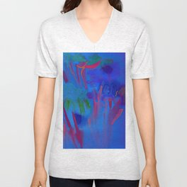 Night Flowers Unisex V-Neck