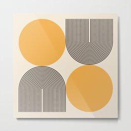 Abstraction_NEW_SUNLIGHT_YELLOW_POP_ART_Minimalism_001Y Metal Print