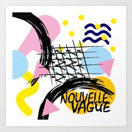 Compo nouvelle vague Art Print