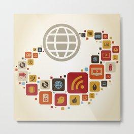 Global world7 Metal Print