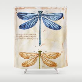 Science art insect art Shower Curtain