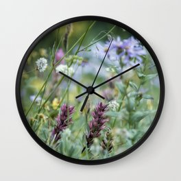 Wildflowers on the Mountain Wall Clock