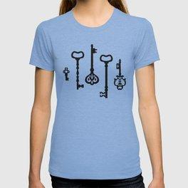 Victorian black & white Keys T-shirt