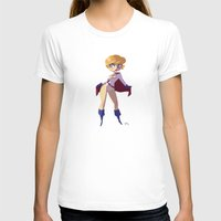 girl power T-shirts featuring Power Girl by Luján Fernández