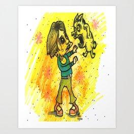The Fuzzy Massacre Of Bobby Brady Art Print