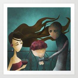 Hopeless romantic Art Print