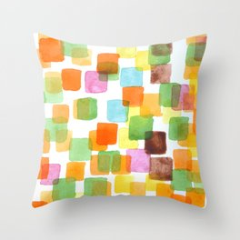 First Squares Pattern  Throw Pillow