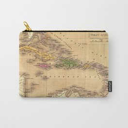 Map Of The Caribbean 1828 Carry-All Pouch