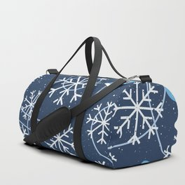 Snowflakes & Winter Gloves Duffle Bag