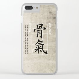 Courage integrity Clear iPhone Case
