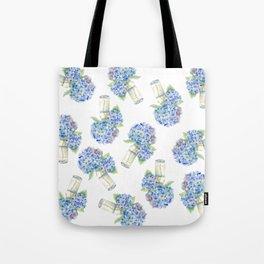 Blue Hydrangea, Still Life Tote Bag