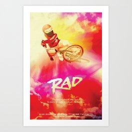 Re-Imagined 1980s Rad Movie Poster Kunstdrucke