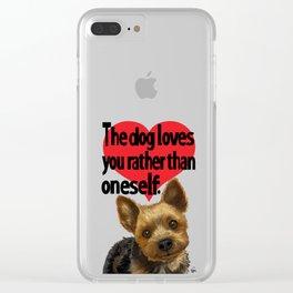 Pretty Puppy T Clear iPhone Case