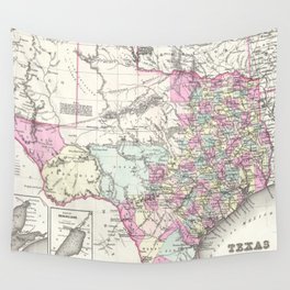 Vintage Map of Texas (1855)  Wall Tapestry