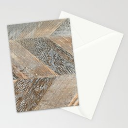 Wood Grain Texture Stationery Cards