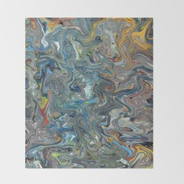 Abstract Oil Painting 19 Throw Blanket