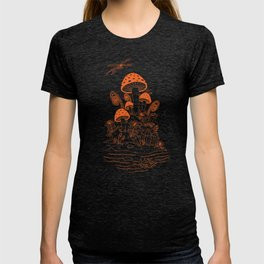 Mushroom, Frogs and Crystals with Dragofly T-shirt