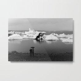 In Awe of Glacier Lagoon Metal Print