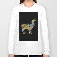 lama Long Sleeve T-shirts featuring Lama by Julie Luke
