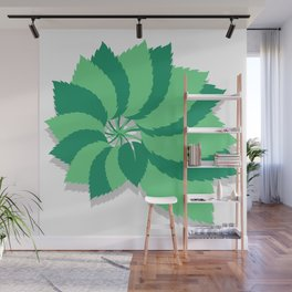 tree leaves pattern vector Wall Mural
