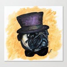 Puggin on the Ritz Canvas Print