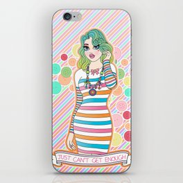 Just Can't Get Enough iPhone Skin