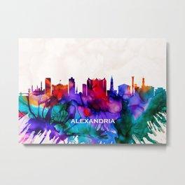 Alexandria Skyline Metal Print