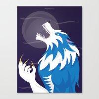 werewolf Canvas Prints featuring Werewolf by Designsbyemjay