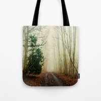 ghost Tote Bags featuring GHOST PATH by Catspaws