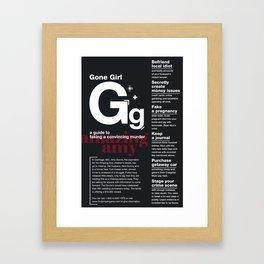 Gone Girl Framed Art Print