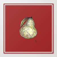 pear Canvas Prints featuring Pear by Ursula Rodgers