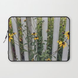 Fenced In Black Eyed Susans Laptop Sleeve