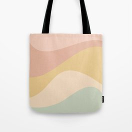 Abstract Color Waves - Neutral Pastel Tote Bag