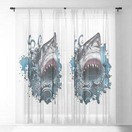 Shark Attack Sheer Curtain