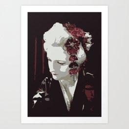 the fair-haired geisha Art Print