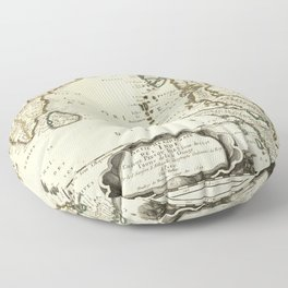 Map of Southeast Asia (1654) Floor Pillow