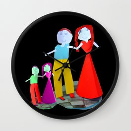 Dance me to the end of love | Kids Painting by Elisavet Wall Clock