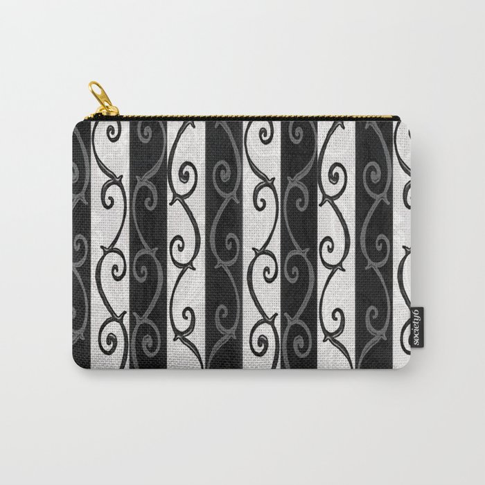Burtonesque Stripes and Swirls.. Carry-All Pouch